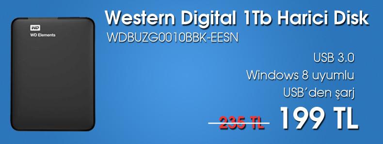 Western Digital 1Tb Usb 3.0 Taşınabilir Harici Disk